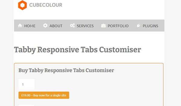 Tabby Responsive Tabs Customiser nổi bật với khả năng thiết kế Responsive Tab dễ dàng.