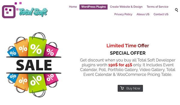 Plugin Total Soft WordPress hỗ trợ tốt trên cả HTML và CSS.