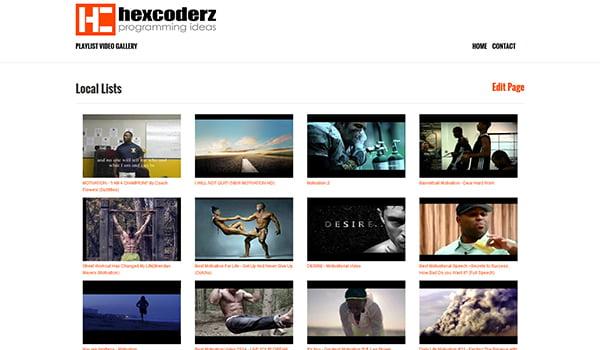 Hiện WP Playlist Video Gallery chỉ hỗ trợ tạo thư viện Video từ Youtube.