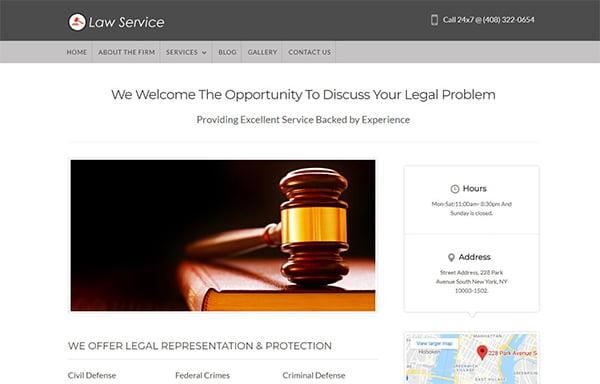 Theme luật sư WordPressLawService cho phép khách hàng thanh toán trước cho các cuộc hẹn