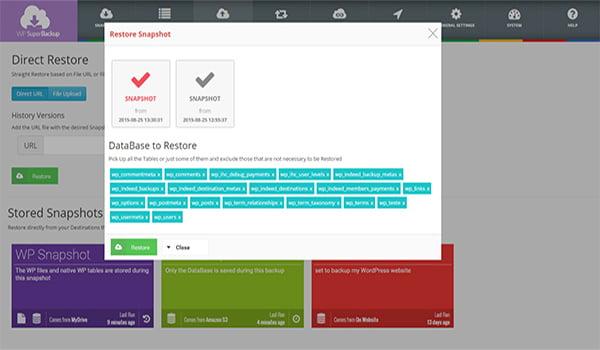 SuperBackup là Top Migration WordPress Plugins được sử dụng phổ biến.