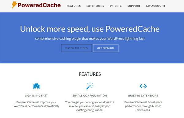 Powered Cache là một Plugin Cache thuộc hàng cao cấp.