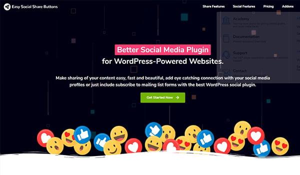 Easy Social Share hỗ trợ chia sẻ trên 45 nền tảng truyền thông xã hội khác nhau.