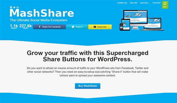 MashShare là một trong những Plugin hỗ trợ truyền thông xã hội miễn phí tốt nhất trong WordPres