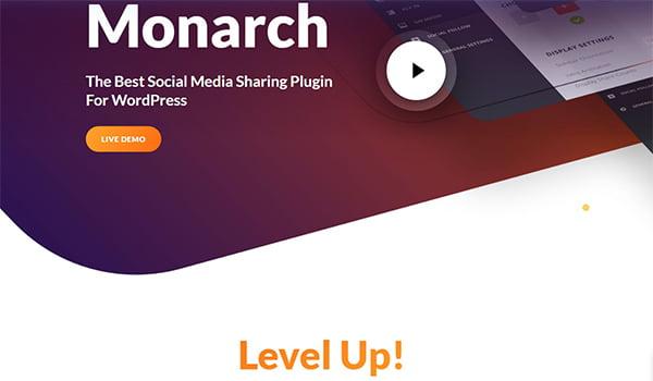 Monarch đem đến một tập hợp các nút Share và Follow cho các mạng xã hội phổ biến.