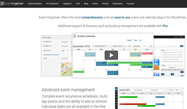 Event Organiser có khả năng tương thích rất tốt với trang Web WordPress của bạn