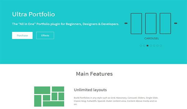 Ultra Portfolio rất linh hoạt nên bạn có thể thay đổi bố cục và các yếu tố khác của Plugin theo nhu cầu của bạn.