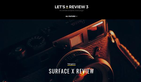 Let's Review hỗ trợ tạo phần đánh giá đẹp mắt cho trang Web.
