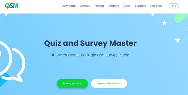 Quiz And Survey Master là Top Plugin WordPress giúp tạo khảo sát phổ biến hiện nay.