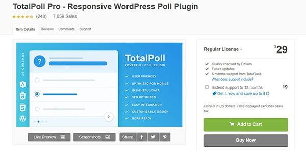 TotalPoll Pro tương thích với nhiều Plugin, công nghệ khác như HHVM, ACF,...