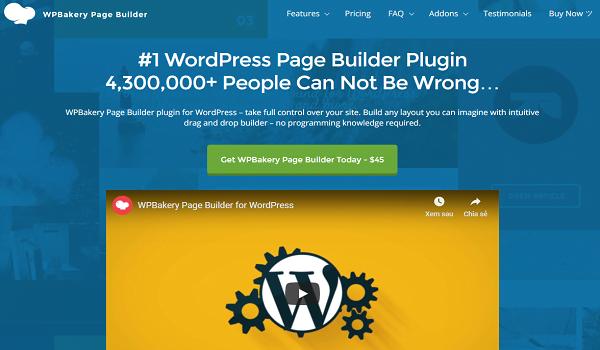 Top Plugin WordPress giúp tạo Page này có hơn 2.0 triệu lượt cài đặt cho đến hiện tại.