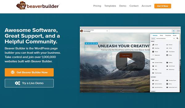 Beaver Builder cung cấp 30 mẫu tuyệt đẹp hỗ trợ tốt nhất cho quá trình tạo Website WordPress.