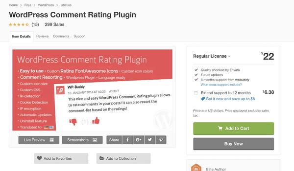 WordPress Comment Rating Plugin thuộc Top Plugin WordPress quản lý Comments tốt nhất hiện
