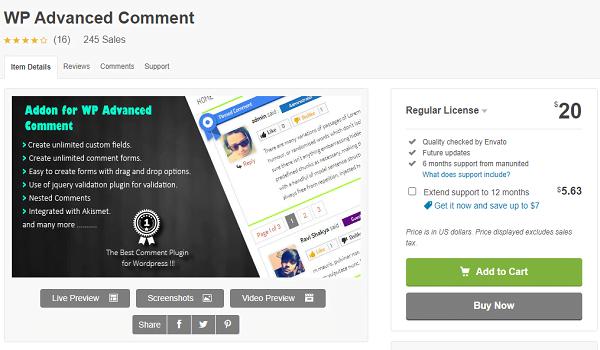 PRO Addon for WP Advanced Comment là phiên bản nâng cấp từ WP Advanced Comment.