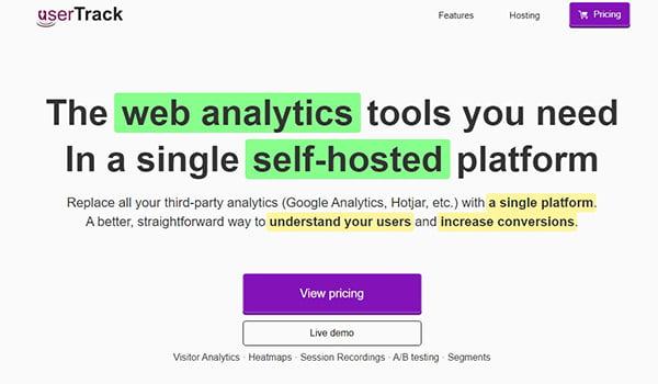User Track là Top Plugin WordPress tạo Heatmap đáng giá.