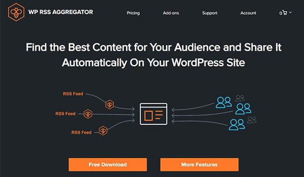 WP RSS Aggregator nằm trong Top Plugin WordPress tạo RSS Feed được yêu thích.