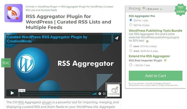 Curated WP RSS Aggregator rất dễ sử dụng, đáp ứng bất kỳ Theme nào.