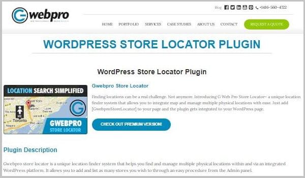 Gwebpro Store Locator giúp bạn tìm và quản lý nhiều vị trí thực của cửa hàng.