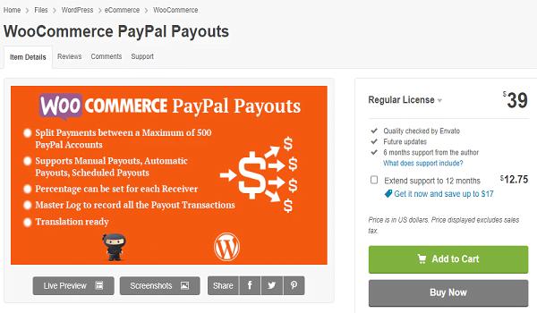 Plugin WordPress hỗ trợ thanh toán PayPal này tương thích với WPML.