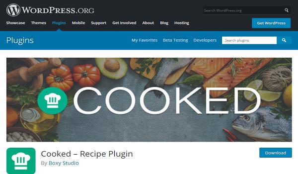 Cooked - Plugin này sẽ làm cho bạn hài lòng bởi tính đơn giản, dễ sử dụng của nó.