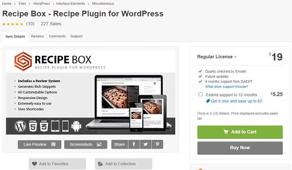 Đây là Plugin cho phép người dùng đánh giá các công thức nấu ăn của bạn.