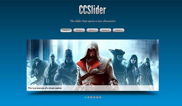 CSS Slider hỗ trợ nhiều tùy chỉnh trên mỗi Slide.