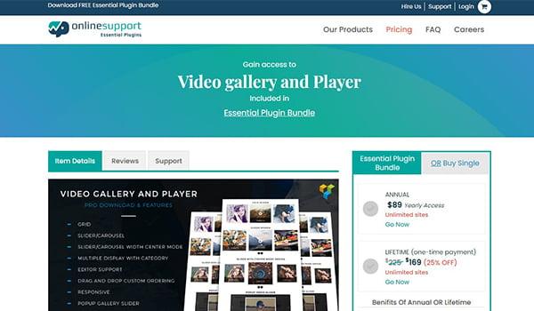 Video Gallery & Player cho phép bạn tạo ID cho nhiều thư viện Video.