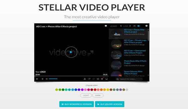 Plugin Stellar Video Player hỗ trợ danh sách phát YouTube, Video trên Dropbox,...