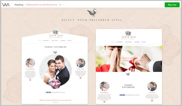 Theme WordPress đám cưới Wedding Day