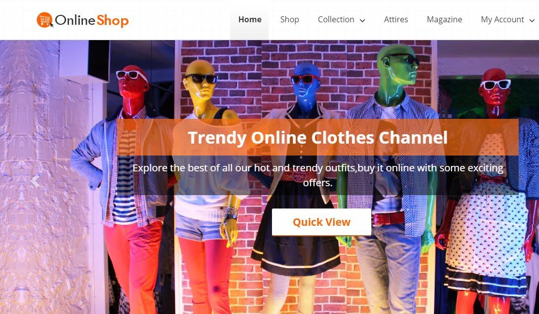 OnlineShop hoàn toàn đáp ứng và hiển thị tốt trên nhiều trình duyệt khác nhau.