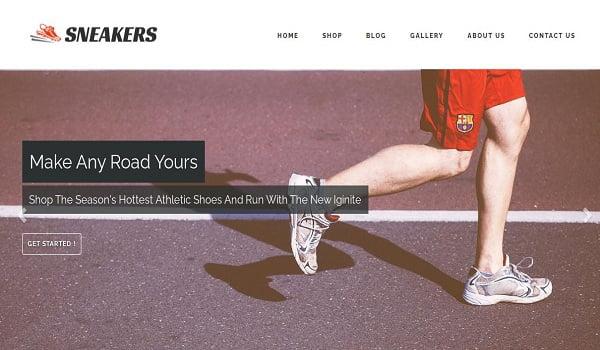 Hãy chọn Theme Sneakers nếu bạn đang kinh doanh giày thể thao.
