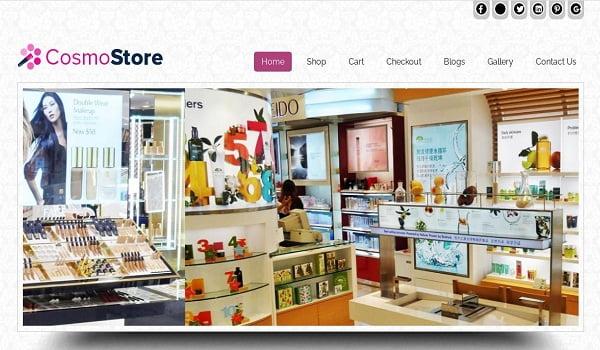CosmoStore tích hợp tích năng hình ảnh động nhằm giới thiệu sản phẩm.
