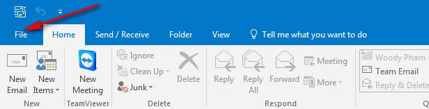 cách cấu hình mail outlook 2016