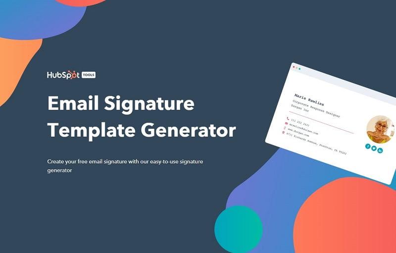 cách tạo chữ ký email trên hubspot
