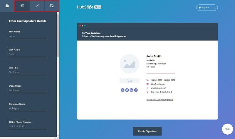 làm thế nào để tạo chữ ký email bằng hubspot
