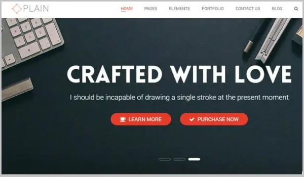 theme wordpress plain
