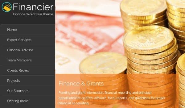 theme wordpress tài chính financier