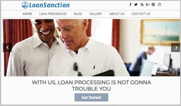theme wordpress tài chính loansanction
