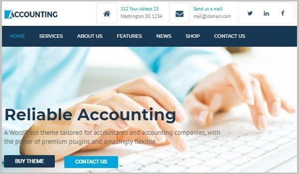 theme website tài chính accounting