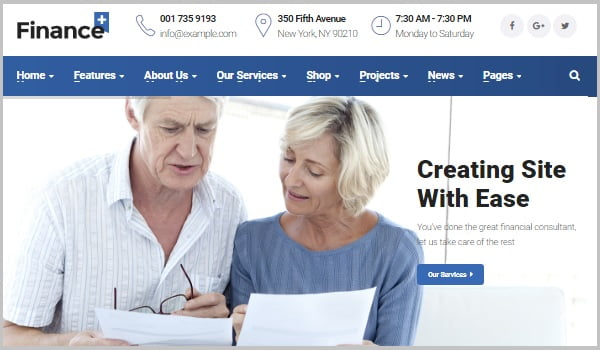 theme wordpress financity plus cho website tài chính