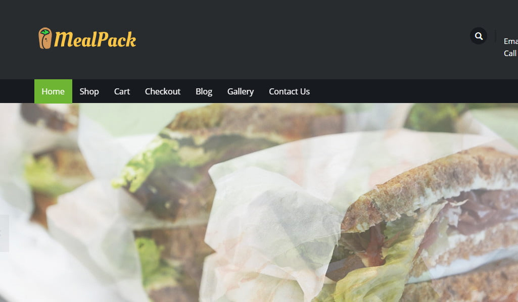 theme wordpress thực phẩm mealpack