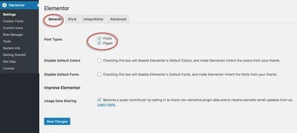 hướng dẫn cài plugin elementor
