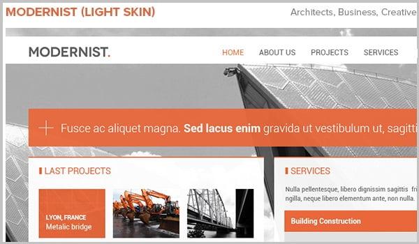 theme website wordpress kiến trúc