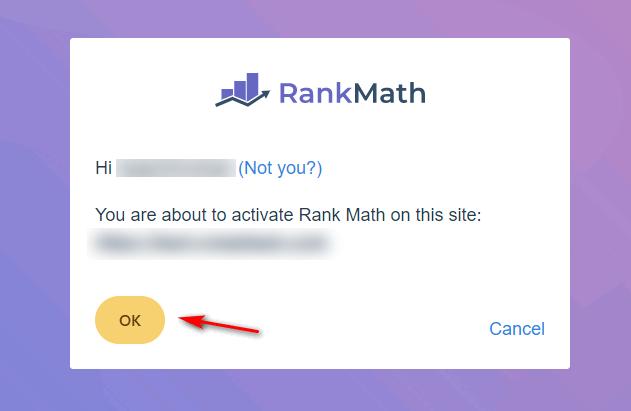 Kết nối thành công với Rank Math SEO