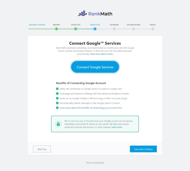 Kết nối website với các hệ thống của Google.