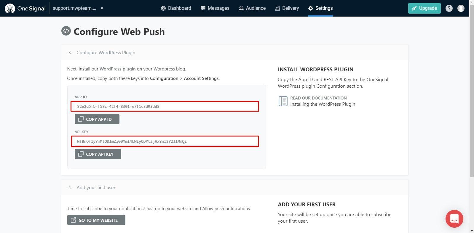 15 - Hướng dẫn cài đặt thông báo đẩy OneSignal cho WordPress từ A tới Z - Trung tâm hỗ trợ kỹ thuật