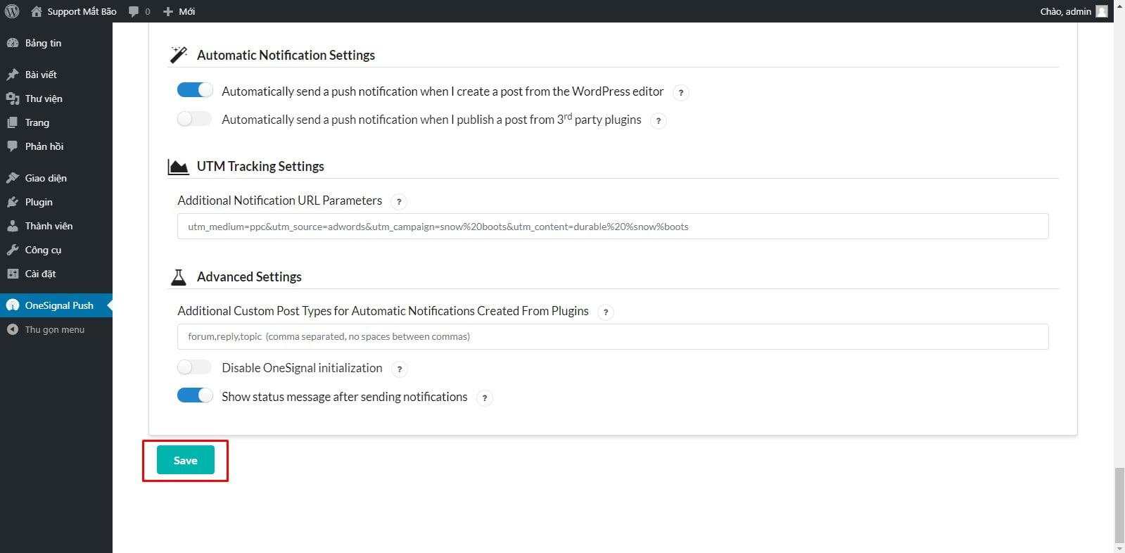 17 - Hướng dẫn cài đặt thông báo đẩy OneSignal cho WordPress từ A tới Z - Trung tâm hỗ trợ kỹ thuật