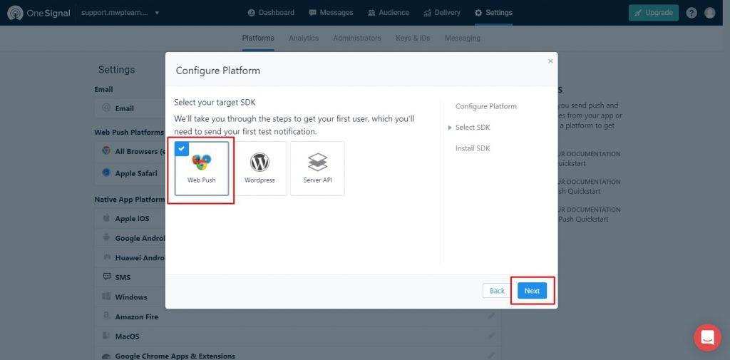 22 1 1024x505 - Hướng dẫn cài đặt thông báo đẩy OneSignal cho WordPress từ A tới Z - Trung tâm hỗ trợ kỹ thuật