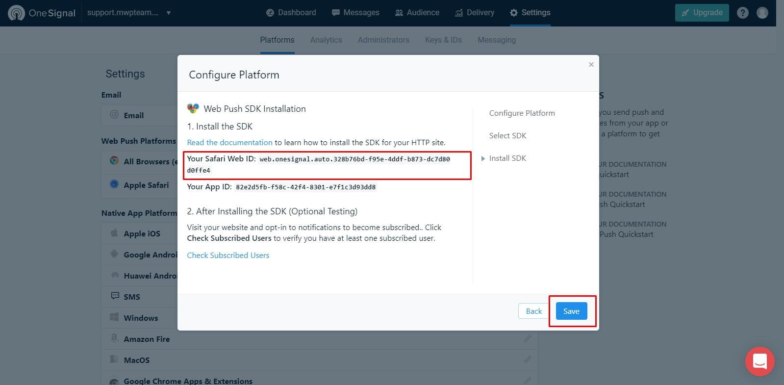 23 1 - Hướng dẫn cài đặt thông báo đẩy OneSignal cho WordPress từ A tới Z - Trung tâm hỗ trợ kỹ thuật