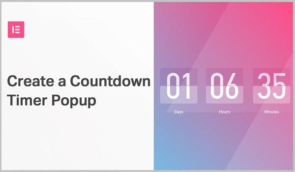 Cách tạo Hello Bar Countdown Popup trong elementor